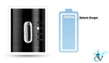 Indicateur batterie chargée