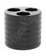 Porte e-cigarette - 3 trous noir